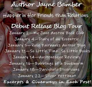Blog Tour: Happier in Her Friends Than Relations by Jayne Bamber