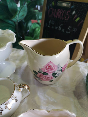 Shabby chic vintage milk jug. Photography by Rachel Hancock @retrogoddesses