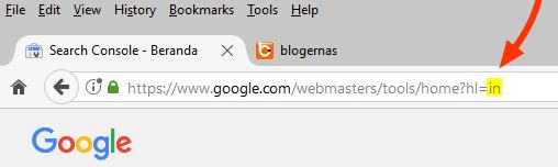 Cara Mengganti Google Search Console dg Bahasa Indonesia