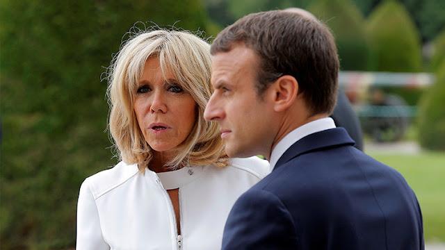 """La Red 'explota' con el """"espeluznante"""" piropo de Trump a Brigitte Macron"""