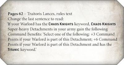 puntos de mando Caballeros del Caos