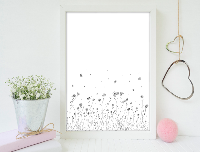 Daisy Flowers Illustration Art