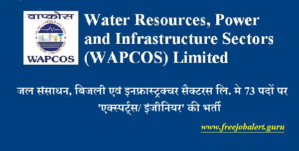Water Resources, Power and Infrastructure Sectors, WAPCOS, WAPCOS Recruitment, Graduation, B.Tech., B.E, Engineer, Expert, Latest Jobs, wapcos logo