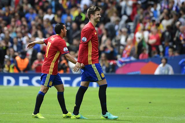 Euro 2016 - ESPAGNE 1 - 0 REP. TCHEQUE (Piqué 87')
