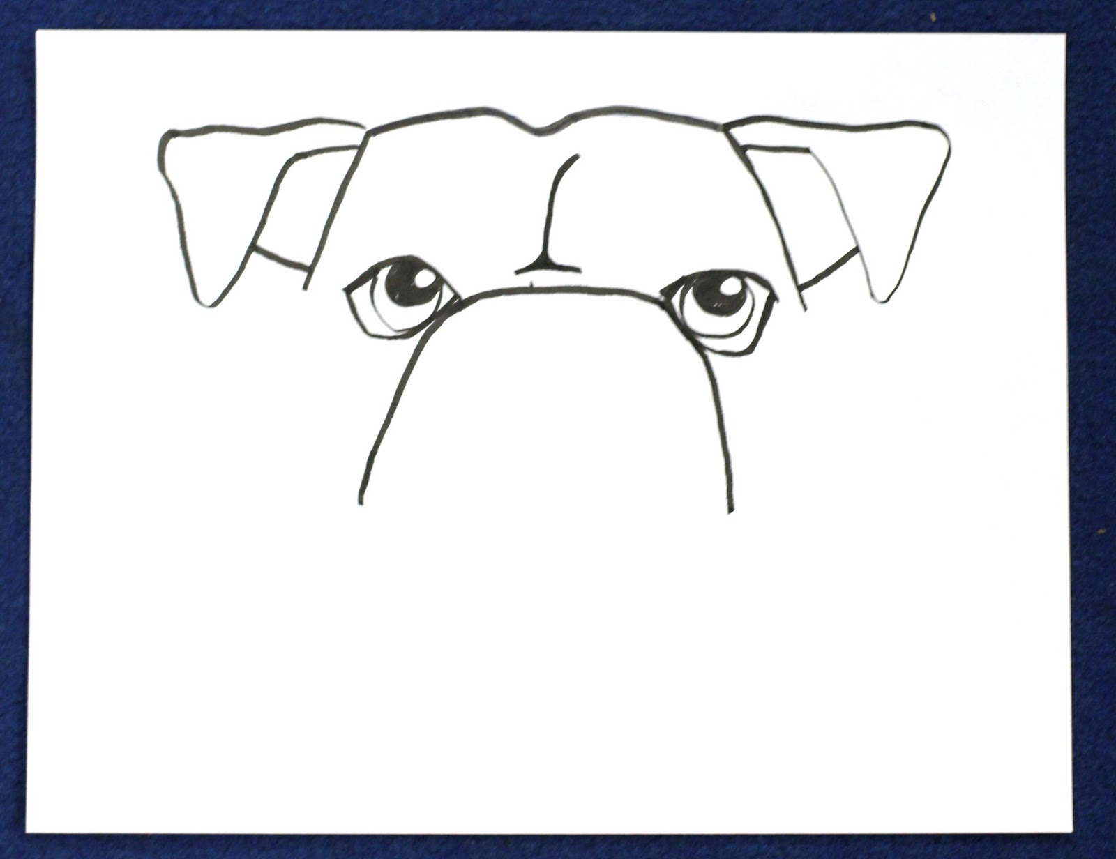 how to draw a dog with glasses