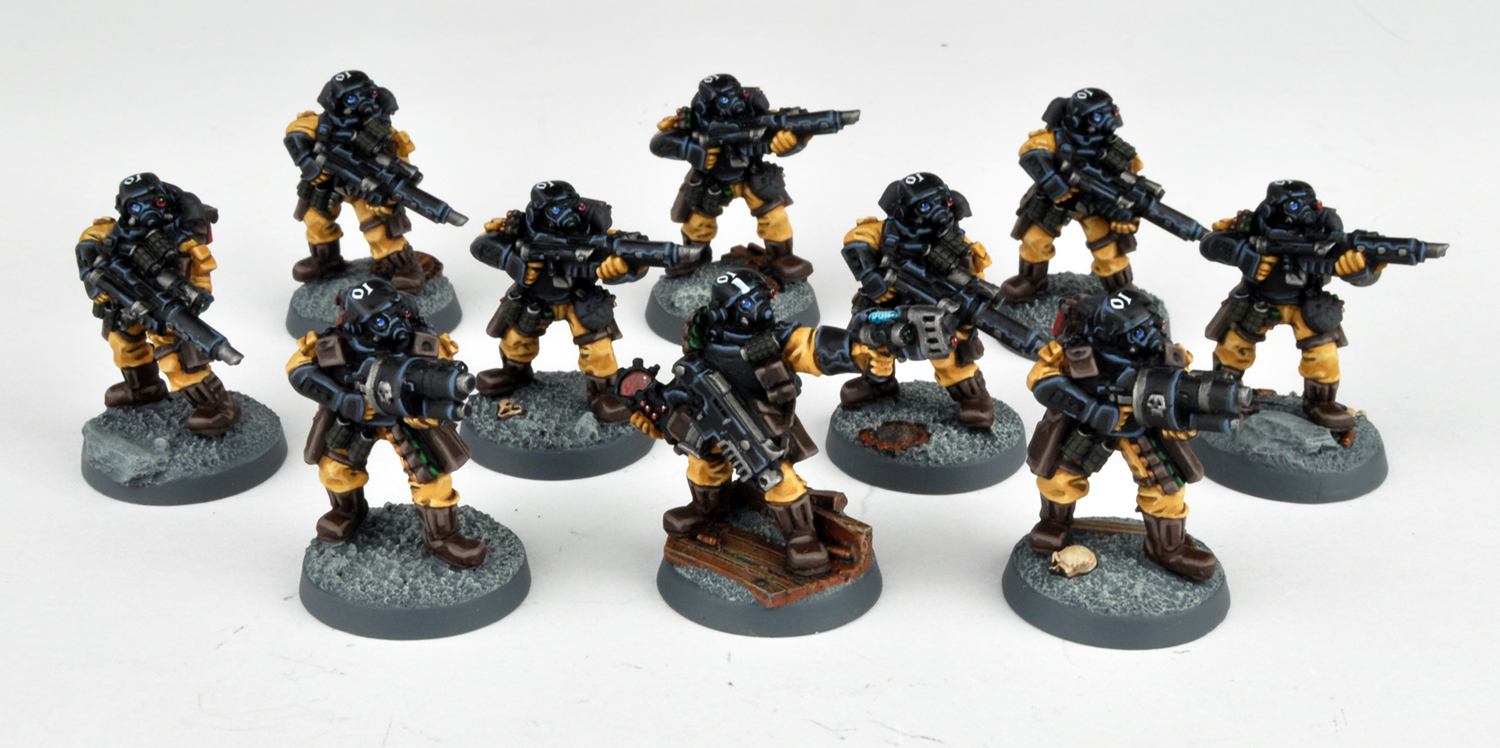 davetaylorminiatures: More Steel Legion Infantry!