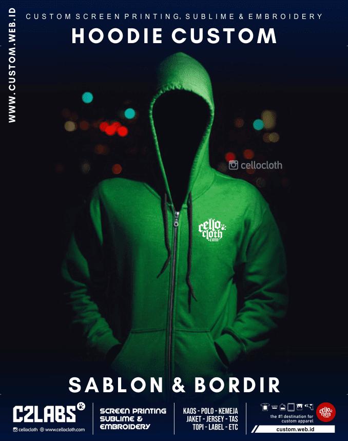 Hoodie Custom Sablon dan Bordir - Fleece CVC Fleece Cotton Beby Terry - Konveksi Jaket Jogja
