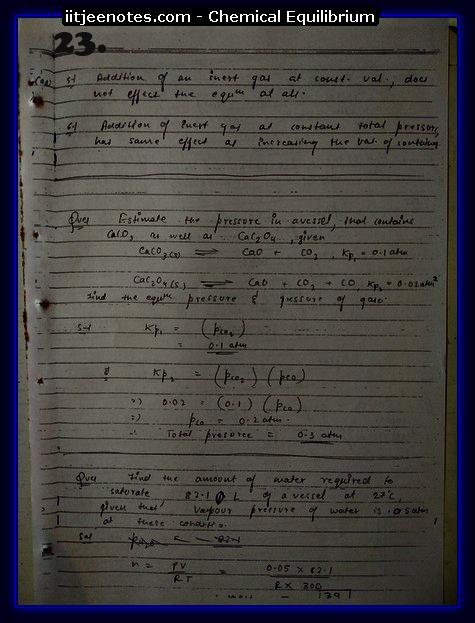 Chemical Equilibrium chemistry