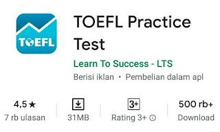 Latihan Onlien TOEFL dari Android