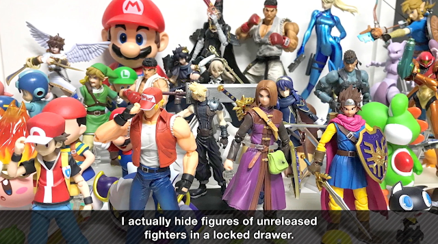 Masahiro Sakurai's 3D videogame character figure collection