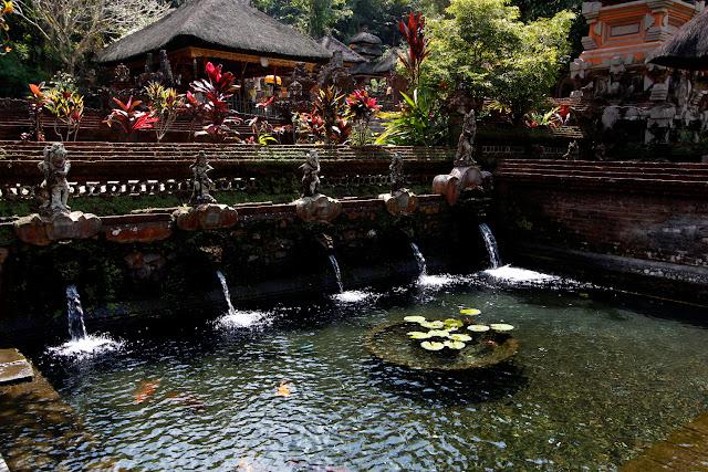 Estanque en Pura Gunung Kawi
