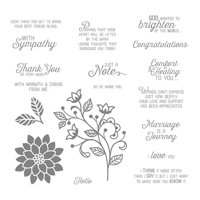 Flourishing phrases stamp set by Stampin' Up!