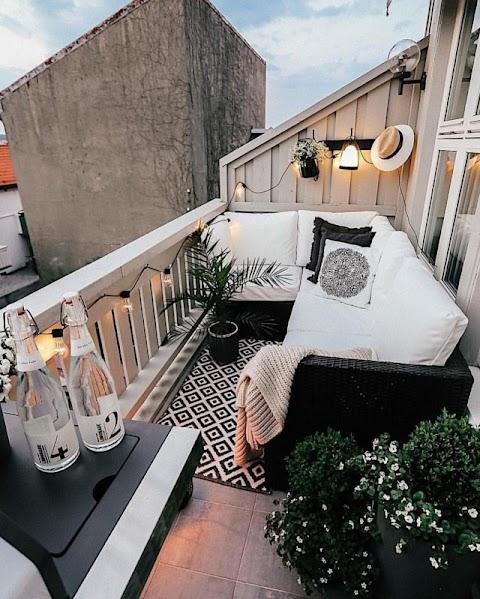 I migliori piccoli balconi arredati visti su Pinterest