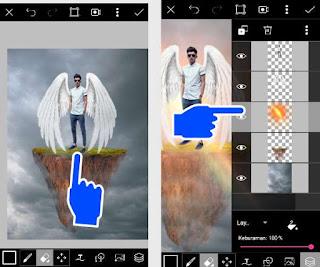 Cara menambahkan sayap picsart