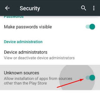 Pengaturan Security Android