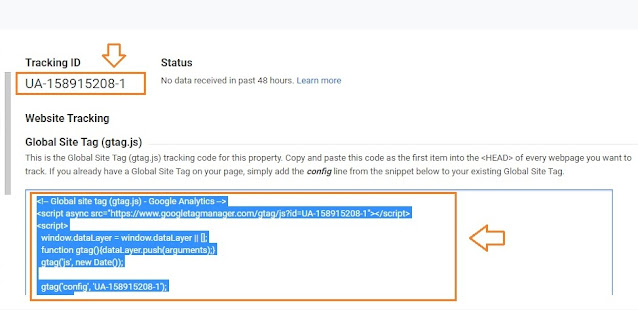 How To Find & Add Analytics Web Property ID On Blogger 10