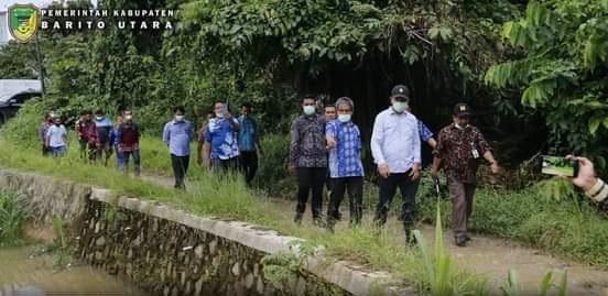 Bupati Barut H Nadalsyah Cek Persiapan Pembuatan Sodetan Sungai Bengaris Muara Teweh