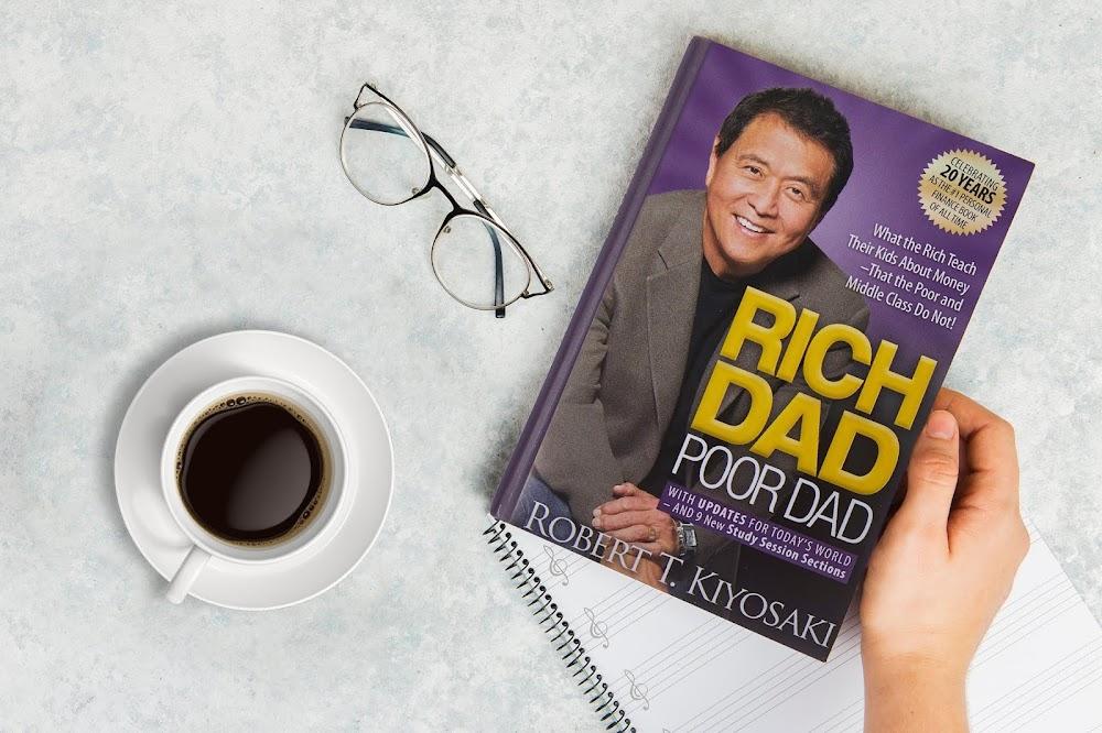 rich dad poor dad book mockup