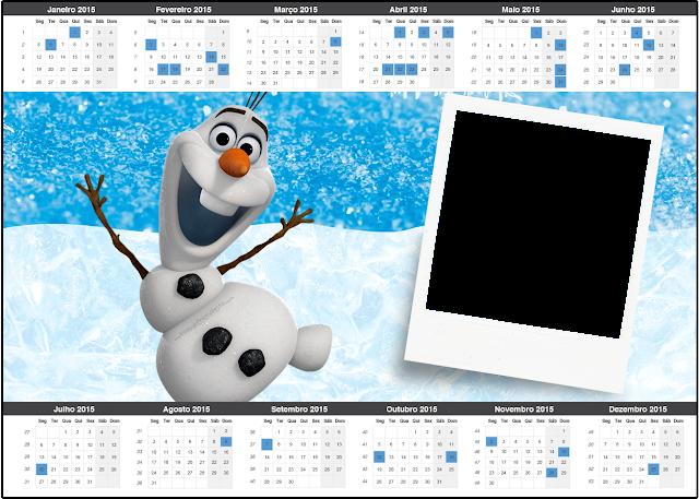 Olaf Free Printable Calendar 2015.