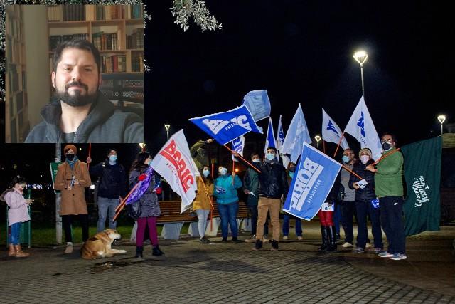 Gabriel Boric lanzó su candidatura presidencial en Osorno
