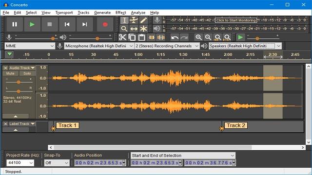 Audacity أفضل برنامج تعديل الصوت للكمبيوتر والموبايل