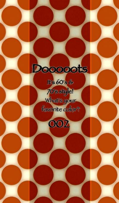 Dooooots002 TEA ORANGE