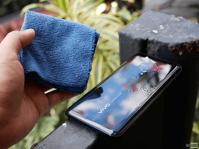 Wipe with a clean microfiber cloth