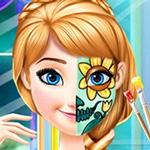 لعبة أميرة الوجه الرسم الاتجاه