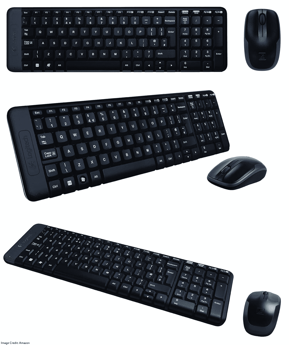 The image of Logitech MK220 wireless keyboard and mouse combo. Its color is black. Moreover, It has a warranty of 3 years. Furthermore, the keyboard has total of 101 keys and he mouse has total of 3 buttons.