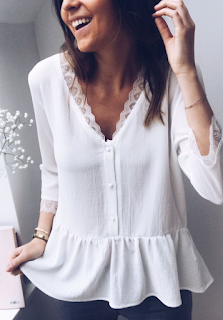 blouse Ariane blanche - easy clothes