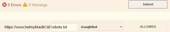 robot.txt dan cara mengaturnya diblogger
