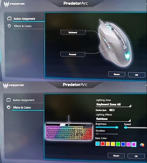 Predator Cestus gaming mouse and Predator Aethon gaming keyboard