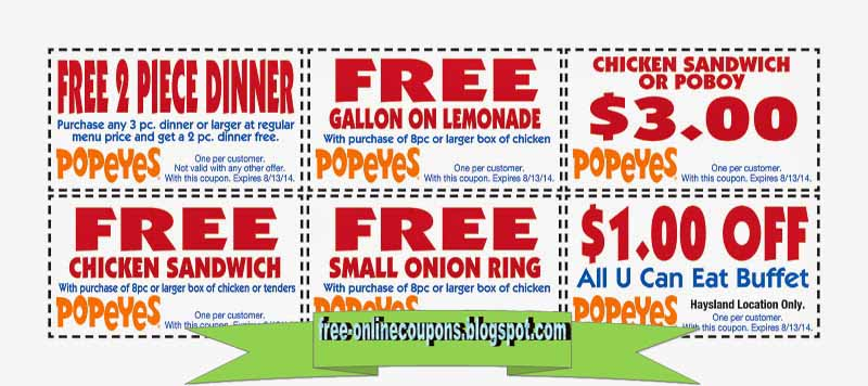 graphic about Popeyes Coupon Printable titled Absolutely free printable coupon codes for popeyes Rooster / Promo code ios