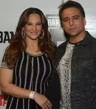 Rakshanda Khan with her husband