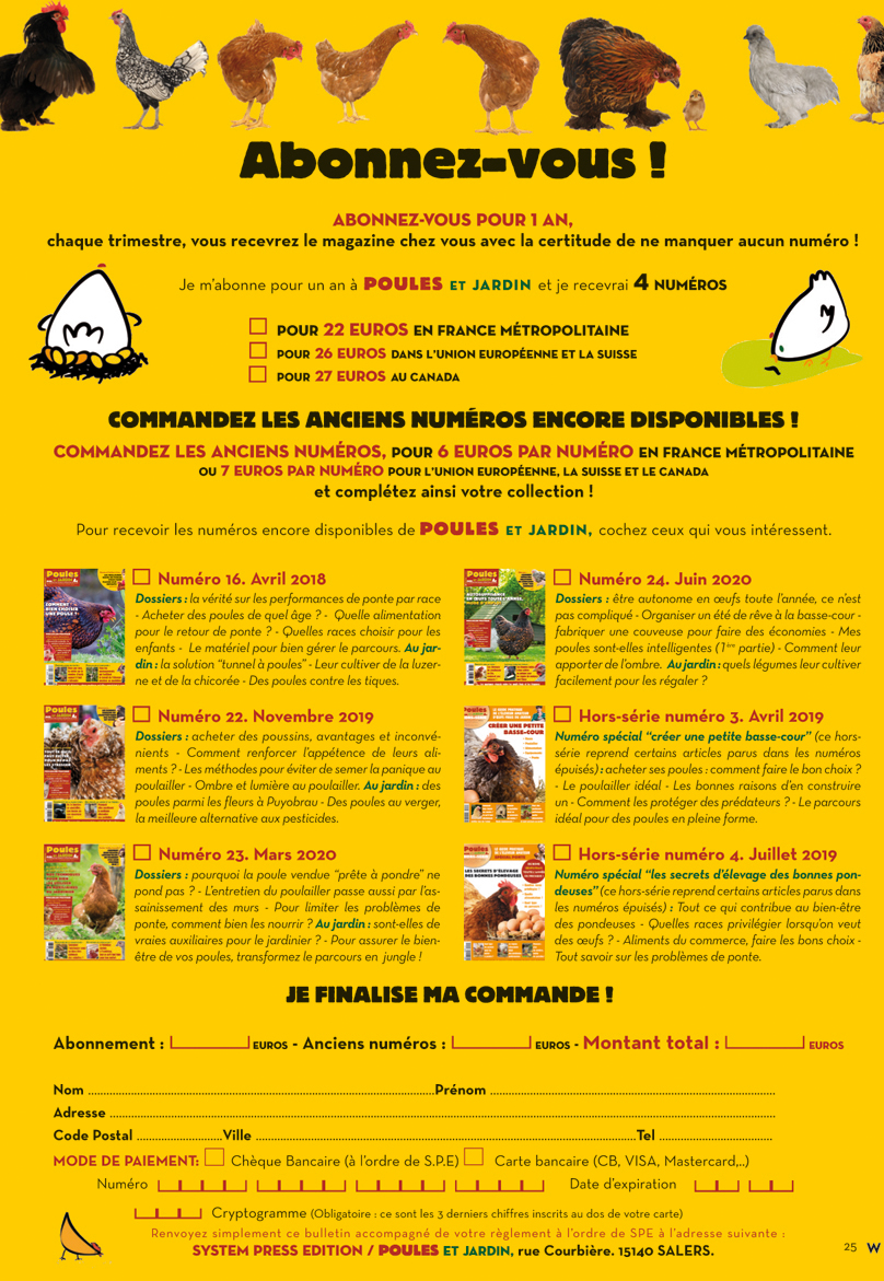 magazine Poule&Jardin VPC25