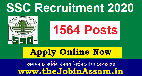 SSC CPO 2020 Recruitment: Apply For 1564 Sub-Inspector In Delhi Police & CAPF