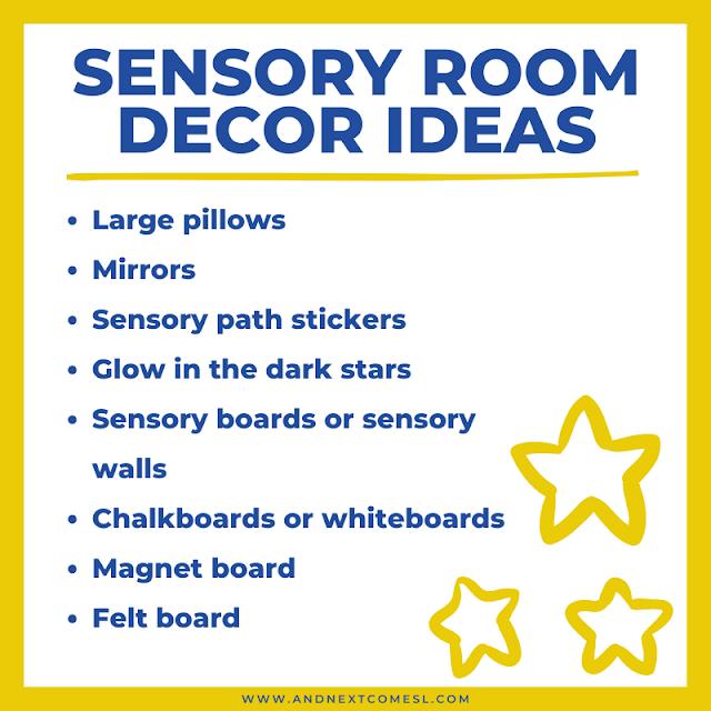 Other sensory room decor ideas