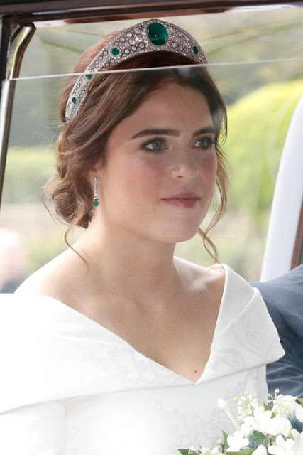 Princess Eugenie wedding look and makeup,  hair  beauty