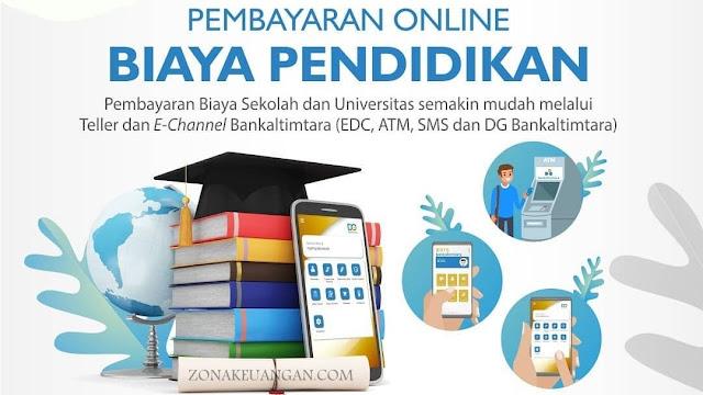 pembayaran biaya pendidikan via online Bank Kaltimtara