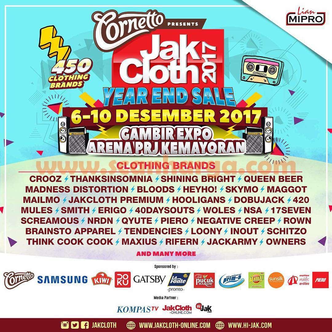 JAKCLOTH Year End Sale Gambir Expo Arena PRJ Kemayoran
