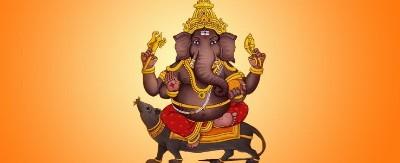 Hindu lord dhumravarna ganesh picture