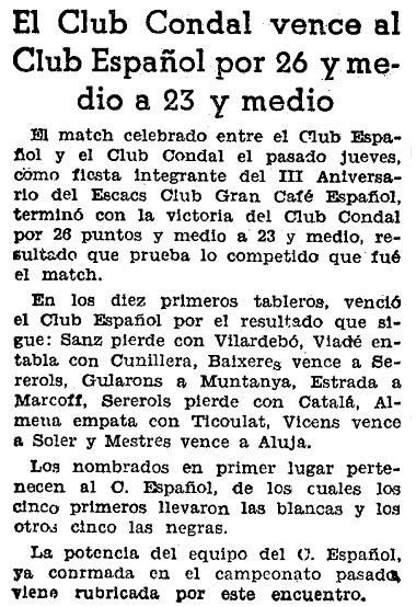 Recorte del Mundo Deportivo, 19/1/1936
