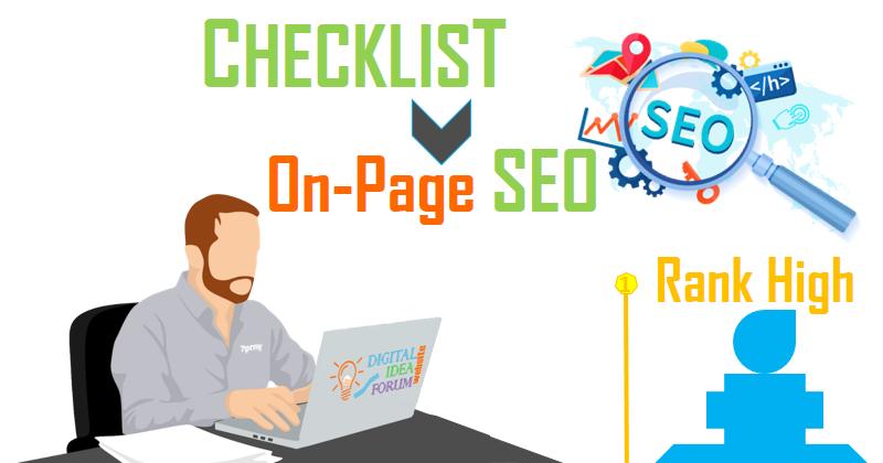 On-Page SEO Checklist (2019 Update) - Digital idea Forum