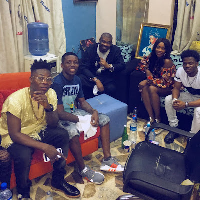 Photo Of Small Doctor Having A Good Time With The Mavins Crew