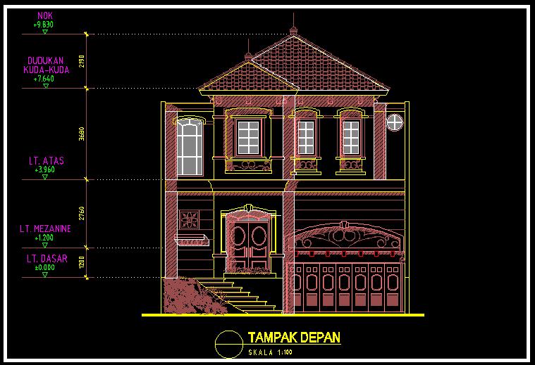 Kumpulan Gambar Rumah 2 Lantai Minimalis Modern Dwg Gratis Blog Anak Teknik