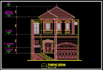 Kumpulan Gambar Rumah 2 Lantai Minimalis Modern Dwg Gratis