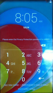 please enter privacy protection password to unlock