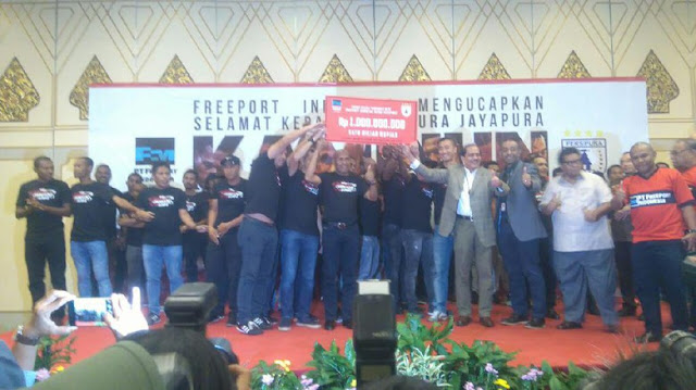 Juara TSC 2016, Persipura Diguyur Bonus Rp 1 M