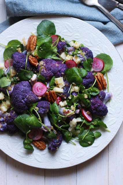 Roasted Cauliflower and Watercress Salad - Supper With Michelle