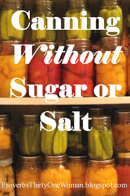 Canning Without Sugar or Salt